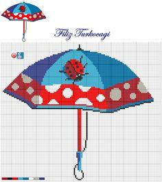 Bu şemsiye de yağmurlu günler için :)) Designed by Filiz Türkocağı...