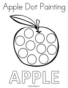 Fresh Painting Coloring Pages 58 Apple Dot Painting Coloring