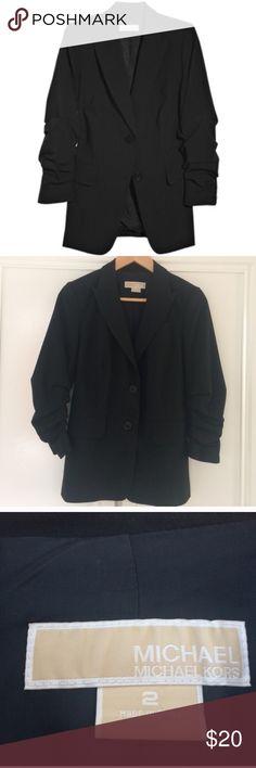 Michael Kors Gathered 3/4 Sleeve Blazer Size 2 Michael Kors Gathered 3/4 Sleeve Blazer Size 2 MICHAEL Michael Kors Jackets & Coats Blazers