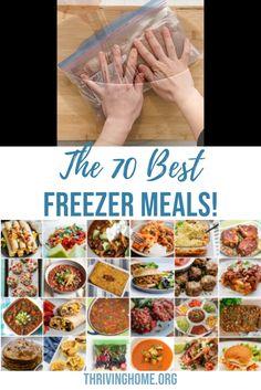 Freezer Prep Meals, Freezer Meal Recipes, Freezer Meals Healthy, Freezer Soups, Freezer Dinner, Healthy Frozen Meals, Chicken Freezer Meals, Freezable Meals, Freezer Friendly Meals