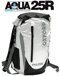 MOTORCYCLE WATERPROOF BACKPACK RUCKSACK AQUA AQUA25R ALL WEATHER LUGGAGE BAG 25l #OXFORD