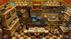 DIY dollhouse furniture has really evolved over the years. These days these items look very similar to many modern, million dollar homes. The key is to make everything look as real as possible. Diy Dollhouse, Dollhouse Furniture, Dollhouse Miniatures, Miniature Rooms, Miniature Kitchen, Miniature Houses, Mini Kitchen, Old Kitchen, Mini Doll House