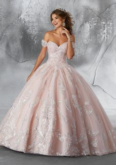Quinceanera dresses and vestidos de quinceanera with bright colors and fancy designs! Browse our quinceanera dresses today! Xv Dresses, Quince Dresses, Fashion Dresses, Prom Dresses, Sparkly Dresses, Pink Wedding Dresses, 15 Dresses Pink, Dress Wedding, Mori Lee Wedding Dress