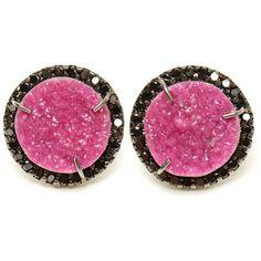 KIMBERLY MCDONALD Cobalto Calcite and Diamond Stud Earrings ($6,765) ❤ liked on Polyvore