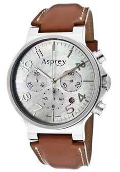 """Asprey of London """"NO.8"""" Men's Mother Of Pearl Dial Automatic Chronometer Watch  With Chronograph & Date"""