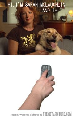 lol I do this while screaming NOOOOO sad puppy commercial!!!!