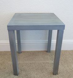 I found this little table at Goodwill for $6! I thought this would make a great little accent piece. Heres the before picture: With this piece, I didnt even sand it. I just cleaned it thoroughly and went straight to priming. I used the Cover Stain spray primer. To do