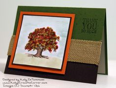 Learn how to use the Stamp-a-ma-jig on during this month's card kit featuring the Lovely as a Tree Stamp Set. Learn how to make this as part of my card kit of the month. Please visit my blog for more details: http://kellyscreativecorner.com/2014/11/17/lovely-as-a-tree-virtual-card-kit/  #stampinup #stampin' #up! #cardkit #stamp-a-ma-jig