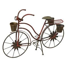 Gerson Bicycle Decorative Planter - Outdoor