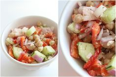 *Ultimate Greek Chopped Salad* with tomatoes, chickpeas, bell pepper, feta cheese, cucumber