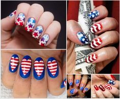 When you're looking for classic stars and stripes 4th of July nail art ideas to steal the show on this Independence Day, I'm here to help you with that. Below are some tips. When saying the great Independence Day, the first thing that comes to your mind maybe the USA flag imprinted style.