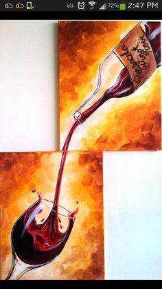 2 canvas hand paint for your home