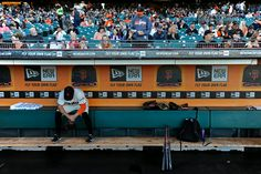 San Francisco Giants' Hunter Pence (8) sits in the dugout before playing the Cincinnati Reds at ATT Park in San Francisco, Calif., on Saturday, June 28, 2014. (Jose Carlos Fajardo/Bay Area News Group)