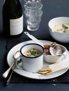 New England-style clam chowder
