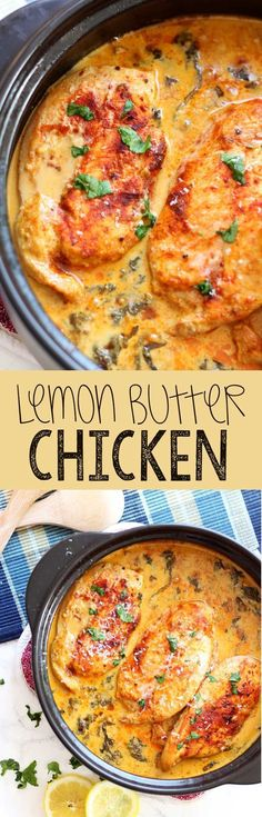 Easy chicken dinner this lemon butter chicken is savory mouthwatering and easy to get on the table. - Eazy Peazy Mealz Easy chicken dinner this lemon butter chicken is savory mouthwatering and easy to get on the table. Slow Cooker Recipes, Cooking Recipes, Healthy Recipes, Simple Recipes, Tofu Recipes, Mexican Recipes, Slow Cooking, Keto Recipes, Fast Recipes