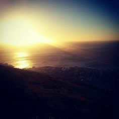 Pôr do sol em Cape Town,  África do Sul ,  foto feita por Natália Vianna