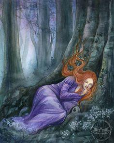 Forest Sleep by JannaFairyArt.deviantart.com on @DeviantArt