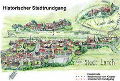 De stad Lorch waar Schiller een deel van zijn jeugd doorbracht