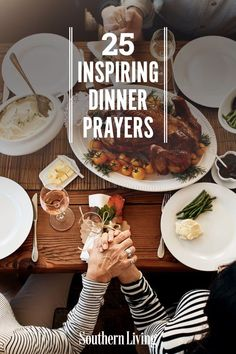 Have you ever been asked to say grace before supper? Not a problem. There are dozens of beautiful ways to give thanks. Browse through these encouraging prayers for a dose of inspiration. #prayers #dinnerprayers #southernliving Our Father In Heaven, Heavenly Father, Dinner Prayer, Saying Grace, Prayers Of Gratitude, Poverty And Hunger, Humble Heart, Southern Sayings, Our Daily Bread