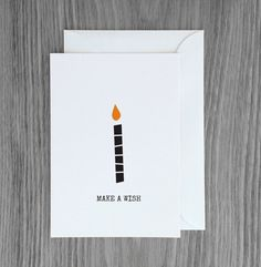 Make a wish birthday card. A beautiful Scandi inspired card for a minimalist in your life.  This card is an original Paper and Pickles design.