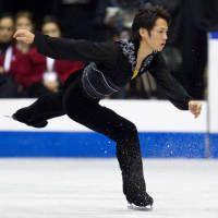 スケート・カナダの男子フリーで演技する高橋大輔。今季初戦は3位だった(カナダ・ミシソーガ)