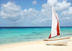 Sailing Bout on Tropical Beach