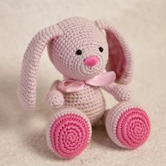 Amigurumi Bunny PATTERN Printable Crochet Bunny PDF Tutorial In English! In Spanish!  Bunny pattern comes with 38 photos on 26 pages.  SIZE: with 2mm crochet hook: Approx. 23 cm/9.1 inc suggested YARN: G-B Wolle, Bio-Baumwolle, Sport / 5 ply, Meterage 120 yards (110 meters) Unit weight 50 grams (1.76 ounces), amount: 2 balls  PS! You can use bigger hook size and a different yarn, your bunny will be bigger. Just take the yarn and hook you like and get started!  You can add a little k...