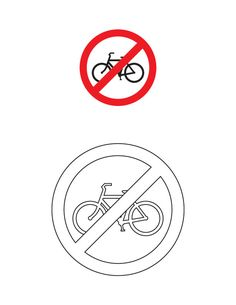 Cycles prohibited traffic sign coloring page Art Attak, American Heritage Girls, Preschool Lesson Plans, Art N Craft, Traffic Light, Life Skills, Art For Kids, Coloring Pages, Alphabet