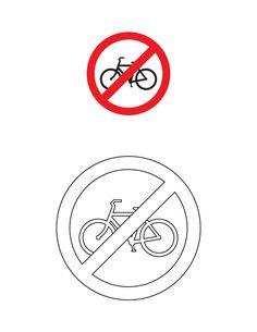 Cycles prohibited traffic sign coloring page Art Attak, American Heritage Girls, Road Transport, Preschool Lesson Plans, Art N Craft, Traffic Light, Life Skills, Lululemon Logo, Art For Kids