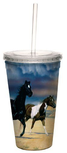 Tree-Free Greetings 80142 Black Mesa Horses by James Hautman Artful Traveler Double-Walled Acrylic Cool Cup with Reusable Straw, 16-Ounce by Tree Free, http://www.amazon.com/dp/B008EGE094/ref=cm_sw_r_pi_dp_q34ssb1XD23N3