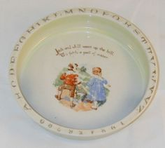 Baby Nursery Rhyme Alphabet China Dish Jack and Jill German Transfer Ware