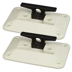 The Tommy Docks Folding Dock Cleat is molded from ultraviolet stabilized nylon. It features ivory colored base with a black flip up cleat. Metal Cleats, Floating Dock, Stainless Steel Hinges, Rust Free, Galvanized Steel, Water Crafts, Paddle Boarding, Kayaking, Stationary