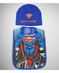 Superman Baby Hat & Bib Set - DC Comics - Spencer's