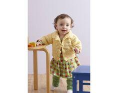 Soft and Simple Raglan Jacket Pattern (Crochet)
