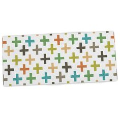 "Love this long slim desk mat - Daisy Beatrice ""Hipster Crosses Repeat"" Multicolor Desk Mat from KESS InHouse"