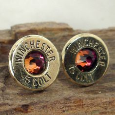 Bullet  Earrings  Stud Earrings  Ultra Thin  Colt by ShellsNStuff, $14.99 yes!