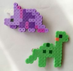 Dinosaur Hair Clip Set by TurtlesandCoquies on Etsy, $5.00
