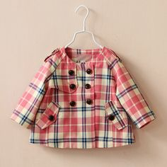 3cbc0330431b7 Aliexpress.com   Buy 2014 European Style Fashion Children Clothing Autumn  Round Collar Plaid Outerwear Long Sleeve Kids Jackets Topolino Girls Coat  from ...