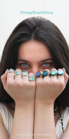 MERMAID BOHEMIAN RING , #VintageRoseGallery #etsy , Amazonites doublet bohemian Ring , Blue boho ring , Mermaid Rings by VintageRoseGallery