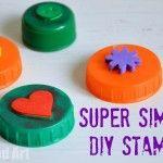 Bottle Top Crafts - simple DIY stamps