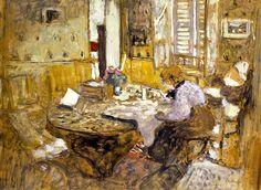 Edouard Vuillard (French, 1868-1940) Madame Vuillard Reading in the Dining Room, Rue Truffant 1903