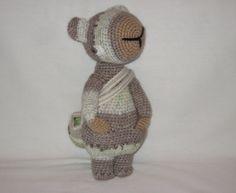 crochet animal amigurumi beige white pastel by schwirrvogel, $60.00
