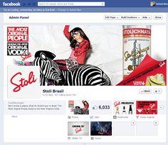 Criação e operação da Página da Vodka  Premium Stolichnaya, incluindo a criação de conteúdo e engajamento.