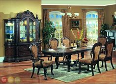 Aurora Formal Dining Room Furniture Set Upholstered Chairs