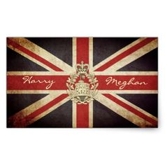 Royal Wedding Harry and Meghan Rectangle Sticker - gift idea