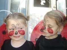 lady bugs face painting idea