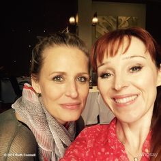 """Samantha Smith (mama Mary Winchester) & Ruth Connell (Rowena) from """"Supernatural"""" 