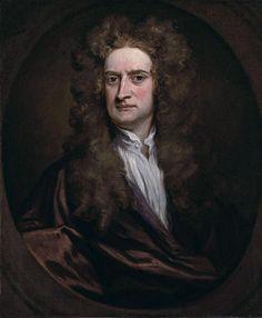 Portrait Of Sir Isaac Newton  Godfrey Kneller