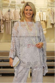 2015 New Style 3 piece lace Glamorous mother of the bride pants suit nmo-035