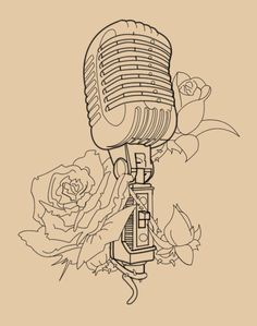 Vintage_Mic_With_Roses_Lineart_by_Skykittens_large.png (500×634)